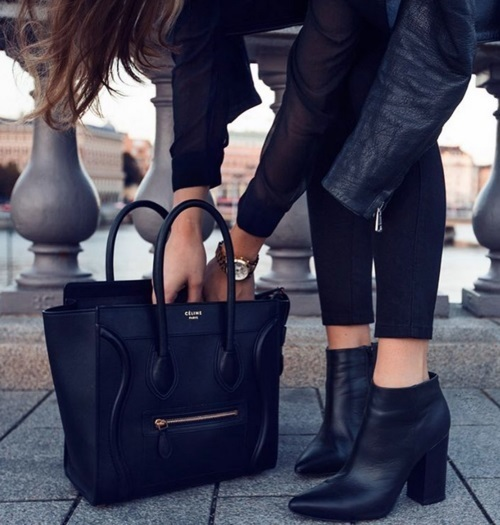black-ankle-boot-with-celine-tote-bag