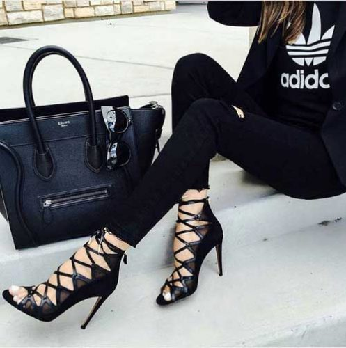black-straps-high-heels-with-celine-bag