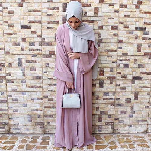 blush abaya fashion