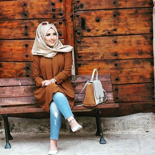 brown-tunic-hijab-chic