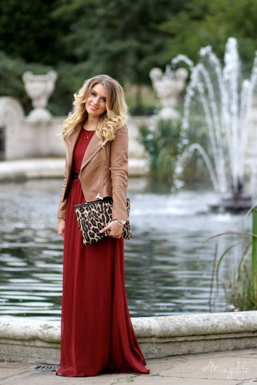 burgandy-maxi-dress-moto-jacket