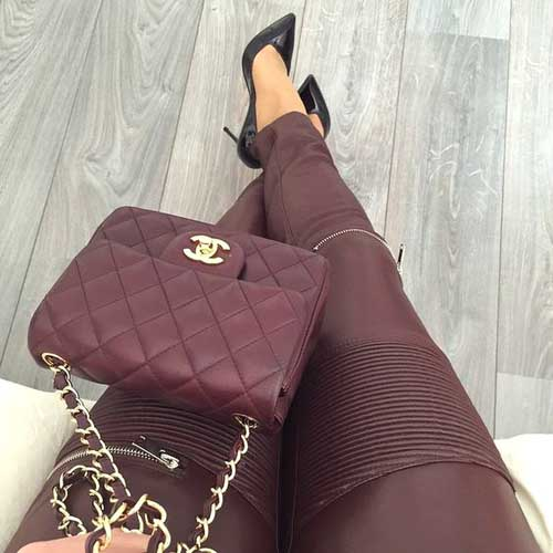 burgundy-chanel-bag-with-pumps