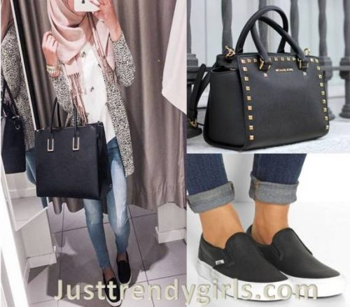 casual-hijab-with-slip-on-shoes