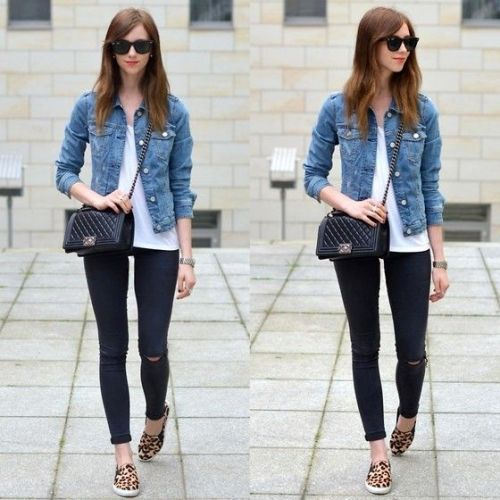 denim-jacket-with-slip-on-shoes