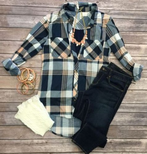 flannel jeans outfit
