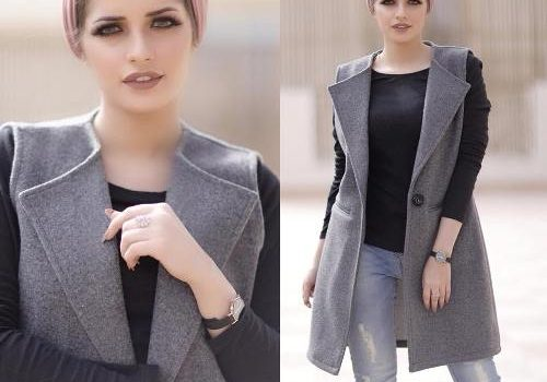 Maxi vests and cardigans hijab style