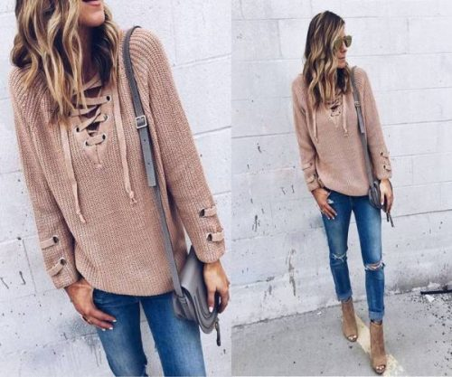lace-up-blush-sweater-outfit