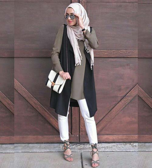 long-black-vest-casual-hijab