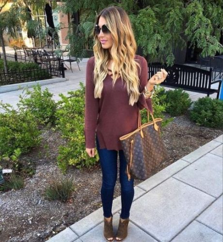maroon-burgandy-sweater-with-ankle-booties