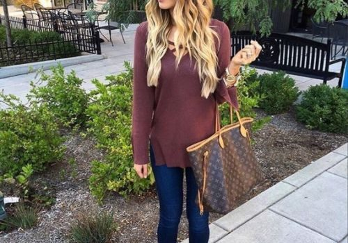 Fall burgundy outfit ideas