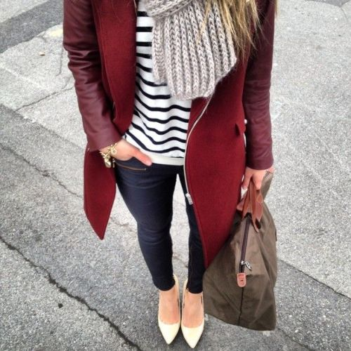maroon-jacket-striped-tee-outfit
