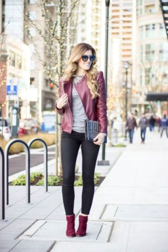 maroon-red-leather-jacket-outfit