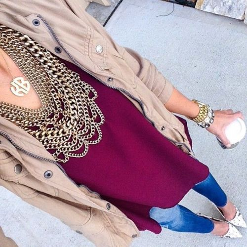 maroon-sweater-beige-jacket