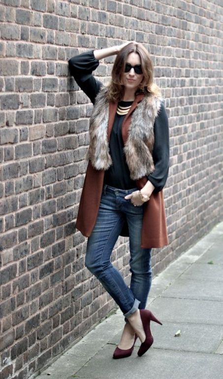 maroon-sweater-fur-vest