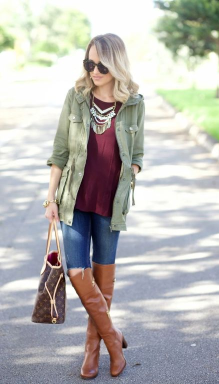maroon-sweater-with-cargo-jacket