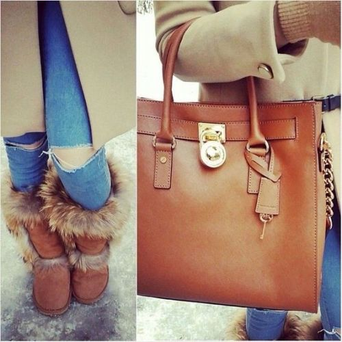 michael kors bag winter outfit