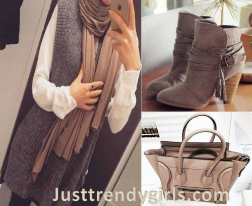 Hijab outfits with matching bags and shoes – Just Trendy Girls