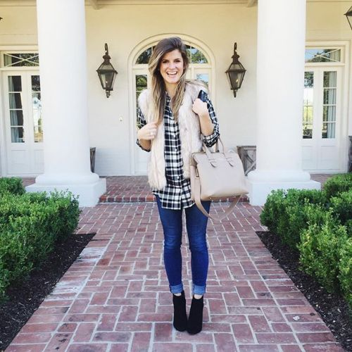 plaid-flannel-vest-outfit
