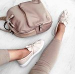 Blush and muted sneakers