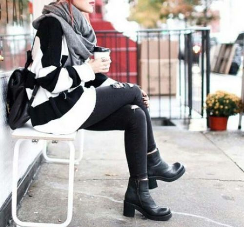 striped-sweater-ankle-shoes-style
