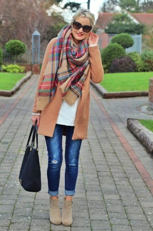 tan-jacket-with-plaid-scarf