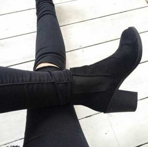 wedge-black-ankle-boots