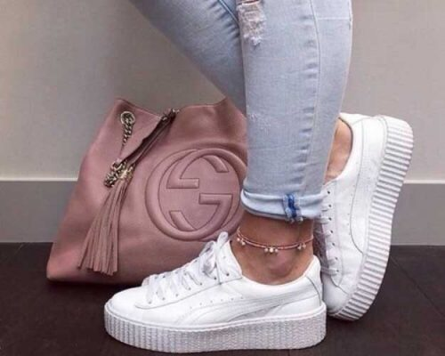 white-sneaker-with-gucci-bag