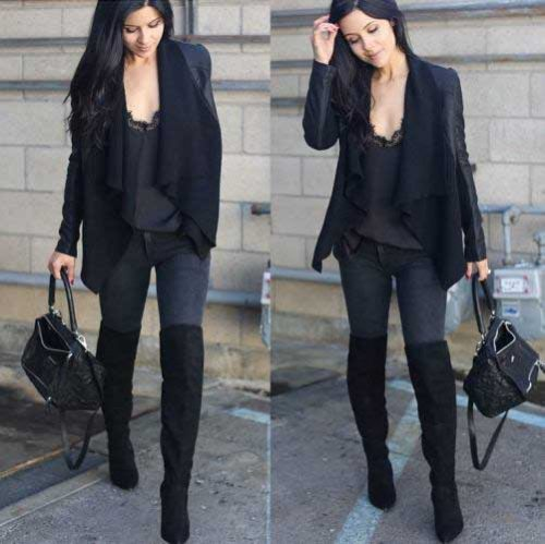 black-blazer-with-lace-top-outfit