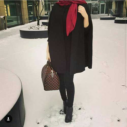 black-poncho-with-hijab
