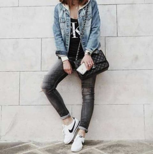 casual-tee-with-denim-jacket-outfit