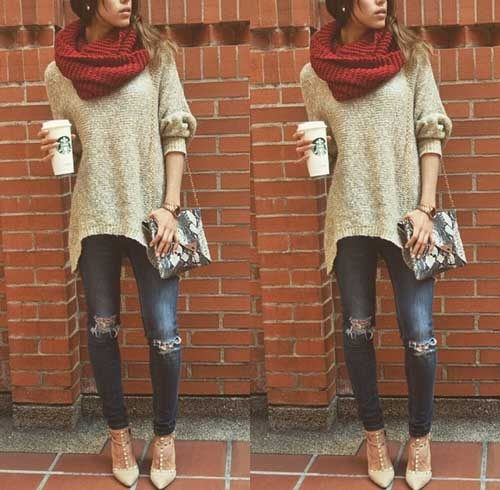 chunky-scarf-with-cowl-sweater-outfit