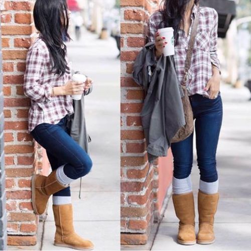 flannel-ugg-boot-outfit