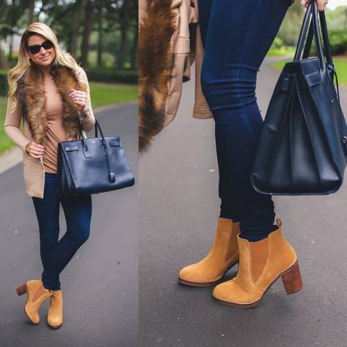 fur-cardigan-ankle-boot-outfit