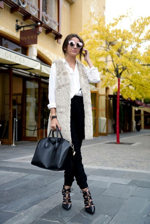 fur-vest-white-shirt-outfit