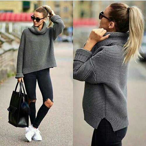 grey-knit-sweater-with-black-jeans