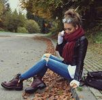 How to rock the maroon boots