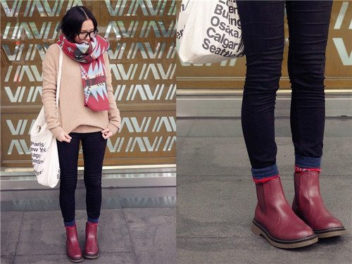 maroon-ankle-boot-outfit