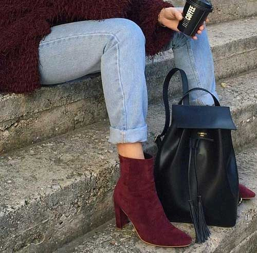 maroon-ankle-boot-with-backpack