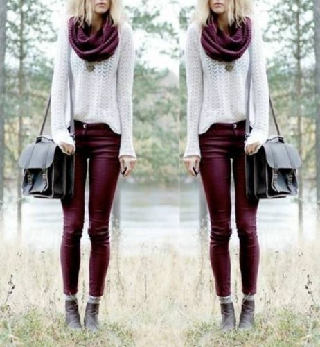 maroon-boot-outfit-idea