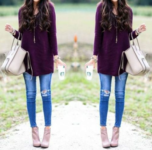 maroon-sweater-outfit