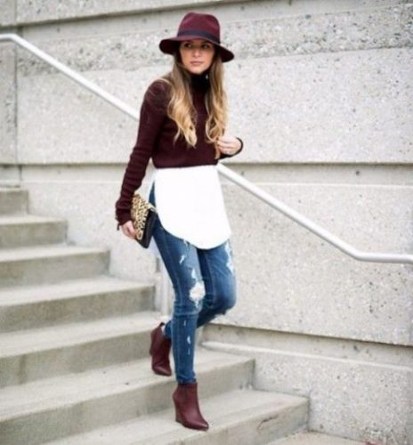 outfit-idea-with-maroon-boots