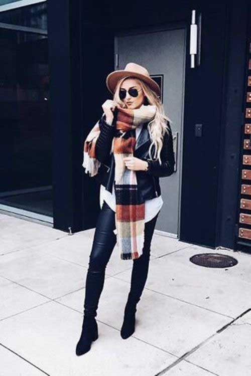 plaid-scarf-outfit-with-jacket