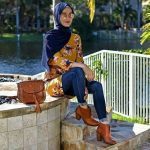 How to wear ankle boots with hijab
