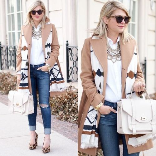 tan-trench-coat-with-aztec-scarf