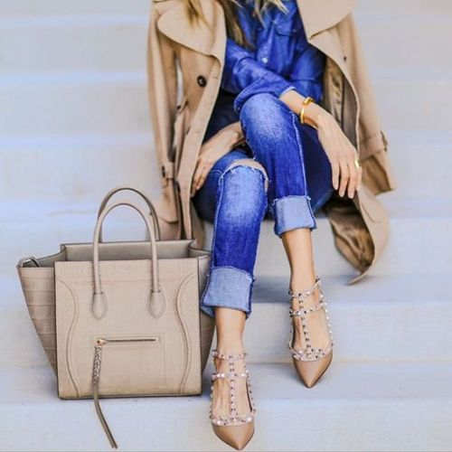 trench-jacket-nude-pump