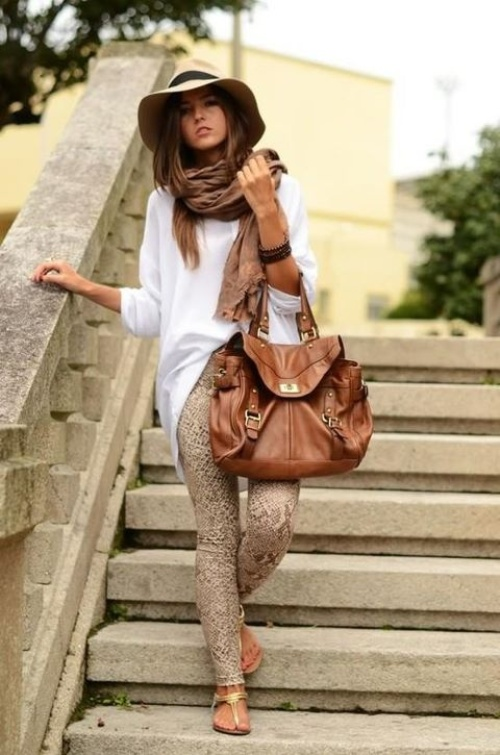 white-blouse-with-printed-pants