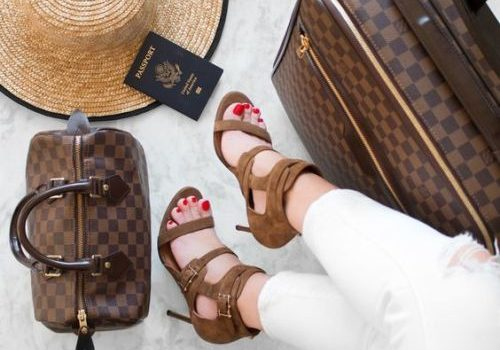 Chic traveling luggage