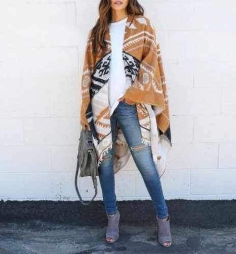 aztec-blanket-poncho-outfit