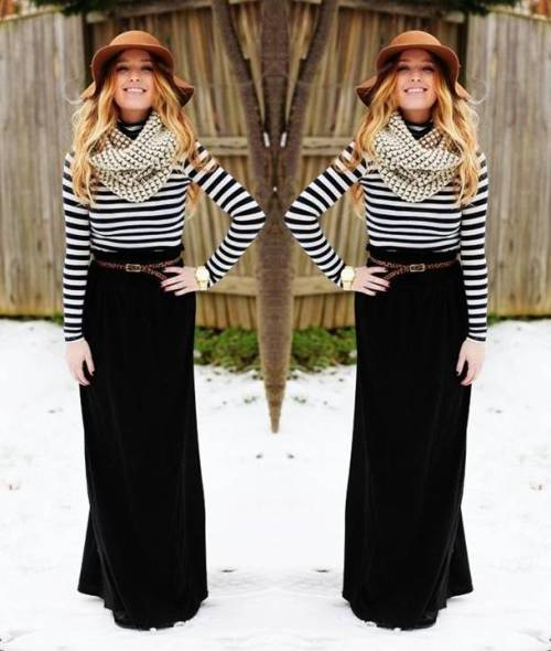 black-maxi-winter-dress-with-striped-sweater-outfit