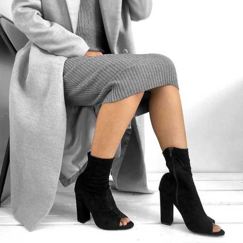 black-peep-toe-booties